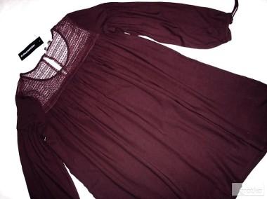 C&A luźna sukienka KORONKA marszczenia NOWA L-1