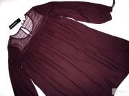 C&A luźna sukienka KORONKA marszczenia NOWA L