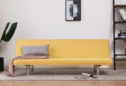 vidaXL Sofa, rozkładana, żółta, poliester282199