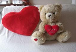 Poduszka – serce na Walentynki - pluszowa przytulanka 60 x 45 cm