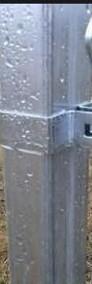 Słupki ogrodzeniowe 60x40 wys.150cm ocynk ogniowy z podstawą-3