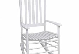 vidaXL Fotel bujany z wygiętym siedziskiem, biały, drewniany40858