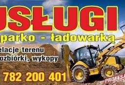 Prace ziemne wynajem usługi koparka wykopy,kopanie koparką,Zendek.ossy