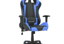 vidaXL Odchylane krzesło biurowe, sportowe, sztuczna skóra, niebieskie20171
