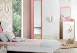 """Łóżko szafa biurko meble dziecięce ZESTAW SWEETHEART """"90"""" Outlet -30%"""