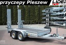LT-104 przyczepa 305x155x20cm, do przewozu minikoparki, sprzętu budowlanego, DMC 2700kg