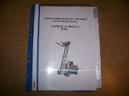 DTR z katalogiem części wózka widłowego DV1733 Balkancar – 100 stron. Cena 60 zł.
