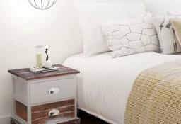 vidaXL Szafka nocna drewniana, brązowo- biała242884
