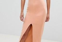 (38/M) ASOS/Długa, ołówkowa sukienka wieczorowa z odkrytymi ramionami