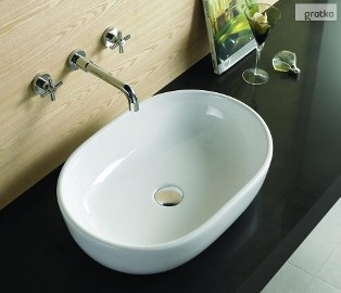 Umywalka nablatowa owalna AMELIA 50x35  Rea