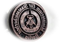 Stara pieczęć drewniana Niemcy BERLIN symbol Sierp i Cyrkiel