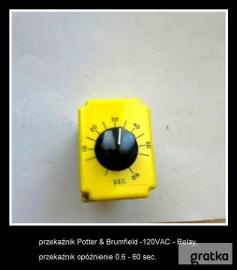 przekaźnik Potter & Brumfield -120VAC - opóźnienie 0,6-60 sec.