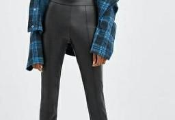 (40) ZARA/ Skórzane spodnie, skórzane legginsy, rurki/ NOWE z metką