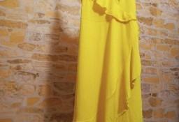 (36/S) ZARA/Zmysłowa, żółta sukienka z Madrytu/ jak NOWA
