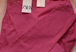 (38/M) ZARA/ Różowe spodnie, rurki, skinny, jeansy z Madrytu/ NOWE