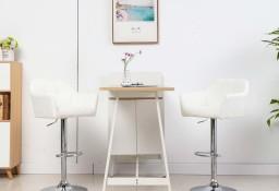 vidaXL Krzesło barowe z podłokietnikami, białe, sztuczna skóra249751