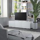 vidaXL Szafka pod TV, biała, 120x34x30 cm, płyta wiórowa 801868