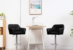 vidaXL Krzesło barowe z podłokietnikami, czarne, sztuczna skóra249750