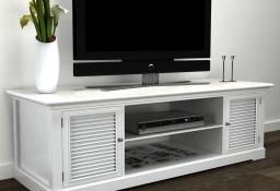 vidaXL Stolik pod TV, drewniany, biały 241373
