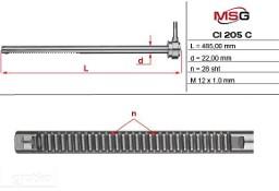 Listwa zębata przekładni kierowniczej Citroen Berlingo, Citroen Xsara, Peugeot Partner CI205C