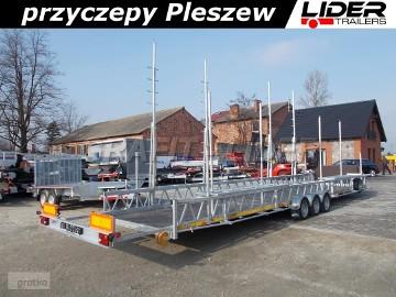 LT-028 przyczepa 1000x196x50cm, dłużyca 3 osiowa, maszty, do przewozu basenów, DMC 3500kg