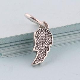 Pandora Charms koralik zawieszka skrzydła anioł anioła cyrkonie