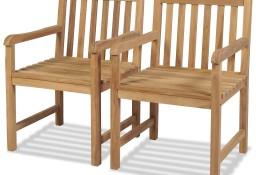 vidaXL Krzesła ogrodowe, 2 szt., lite drewno tekowe 43250