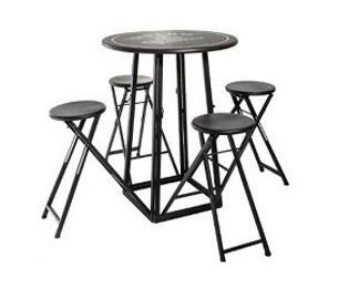 składany metalowy zestaw stół i krzesła