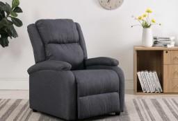 vidaXL Rozkładany fotel telewizyjny, ciemnoszary, tapicerowany tkaniną248695