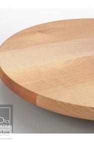 Taca obrotowa 39 cm , drewniana patera deska, szwedzki styl-2