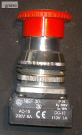 Przycisk sterowniczy NEF 30 ; AC-15 230V 6A :: DC-13 110V 1A