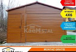 Solidny garaż blaszany 4x5 GARAŻE blaszane blaszaki drewnopodobne kolory RAL