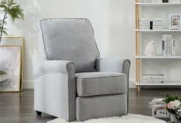 vidaXL Rozkładany fotel telewizyjny, jasnoszary, tapicerowany tkaniną248666