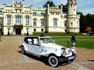 JAGUAR na wesela Wynajem zabytkowych aut do Ślubu Kabriolet Nestor Baron RETRO samochody weselne Luksusowe limuzyny CHRYSLER 300C