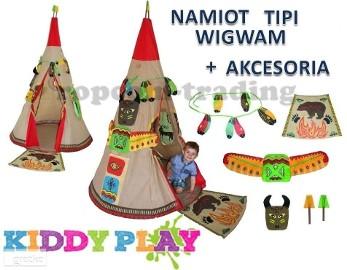 Namiot indiański Domek Wigwam Tipi dla dziecka pokój ogród