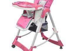 vidaXL Luksusowe krzesełko do karmienia, regulacja wysokości, różowe10062