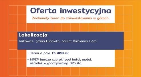 Działka inwestycyjna Jarkowice
