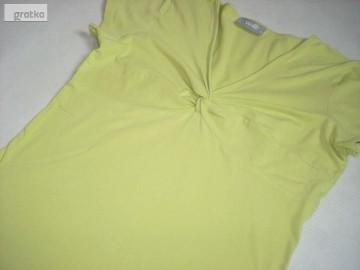 Wallis Limonkowa bluzka Węzeł 40 L