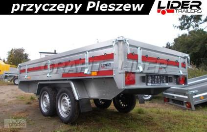 TM-078 przyczepa Transporter 3015/2 0,75t, 304x153x30cm, uniwersalna, platforma, lekka DMC 750kg