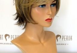 Peruka krótka z włosów syntetycznych w jasnym kolorze Pińczów