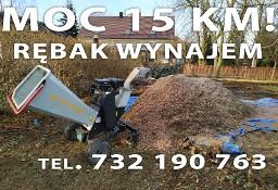 Rębak Wrocław wynajem rozdrabniacza do gałęzi MOCNY! 15 KM