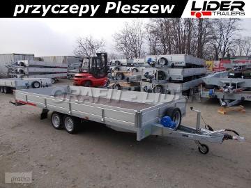 TM-197 przyczepa 507x211x30cm, Carplatform 5121S laweta, platforma, podłoga sklejkowa, burty aluminiowe, koła 13