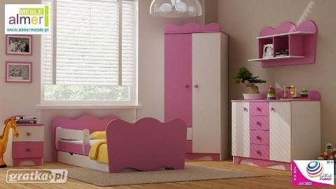 zestaw MAJA A z łóżkiem - WYSYŁKA GRATIS - kolekcja mebli dla dzieci