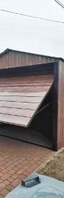 Garaż blaszany drewnopodobny jednospadowy 3x5m z bramą uchylną-3