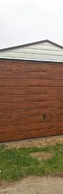 Garaż blaszany drewnopodobny jednospadowy 3x5m z bramą uchylną-4
