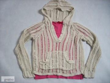 AWEAR Sweter Ażur Siatka GRuba Włóczka 36 38