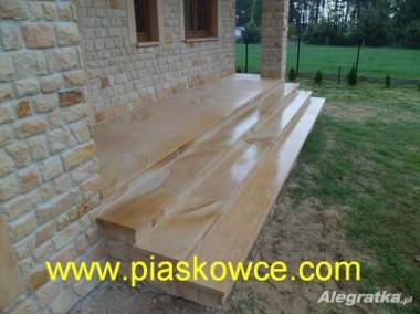 Schody kamienne z kamienia piaskowca piaskowiec płyty szlifowane-1