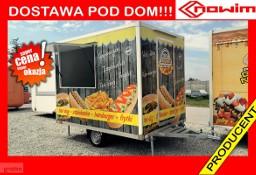 0.25.18.105 ALFA Przyczepa gastronomiczna gotowy biznes food truck zapiekanki frytki hamburger lekka 750 kg budka 3 m handlowa ...