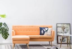 vidaXL Sofa z leżanką, obita tkaniną, 171,5x138x81,5 cm, pomarańczowa 247022