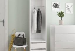 vidaXL Szafa z szufladami, wysoki połysk, biała, 50x50x200 cm800618